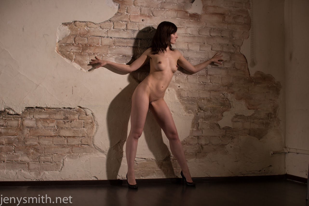 image Naked jeny smith is hiding and sneaking in the lost corridor
