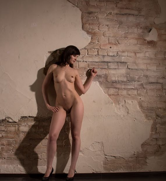 Jeny Smith Looking Sexy Against a Broken Wall