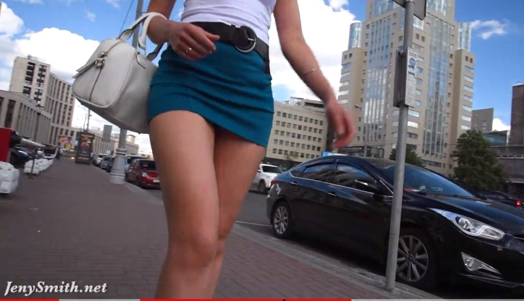 Watch Now: Jeny Smith Upskirt Flashing in the City