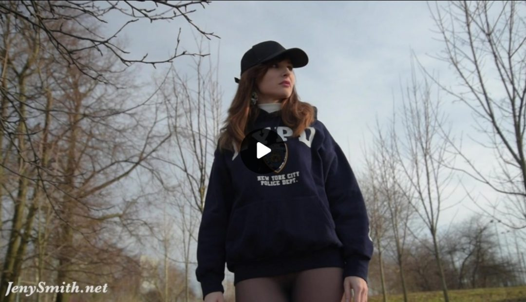 Video: Watch Sexy Jeny Smith in NYPD Hoodie