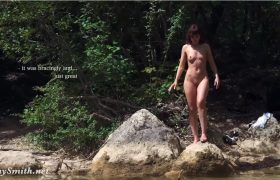 Free Video: Jeny Smith Traveling Naked in a Tall Canyon