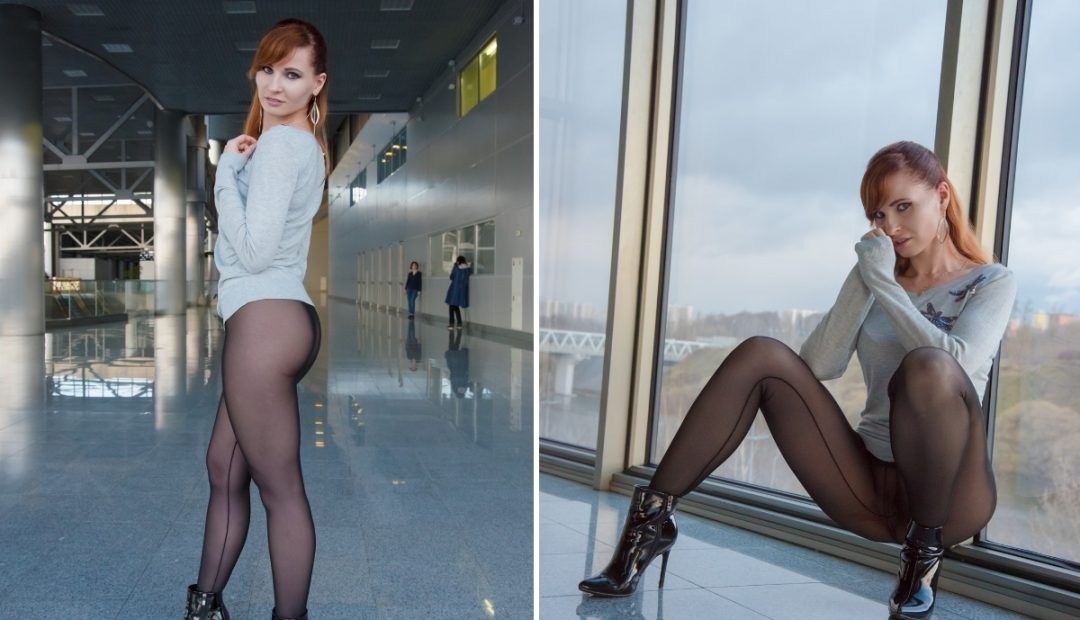 Photo Gallery: Jeny Smith Looks Amazing in Sheer Leggings