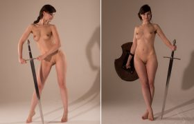 Photo Gallery: Jeny Smith Nude With A Sword