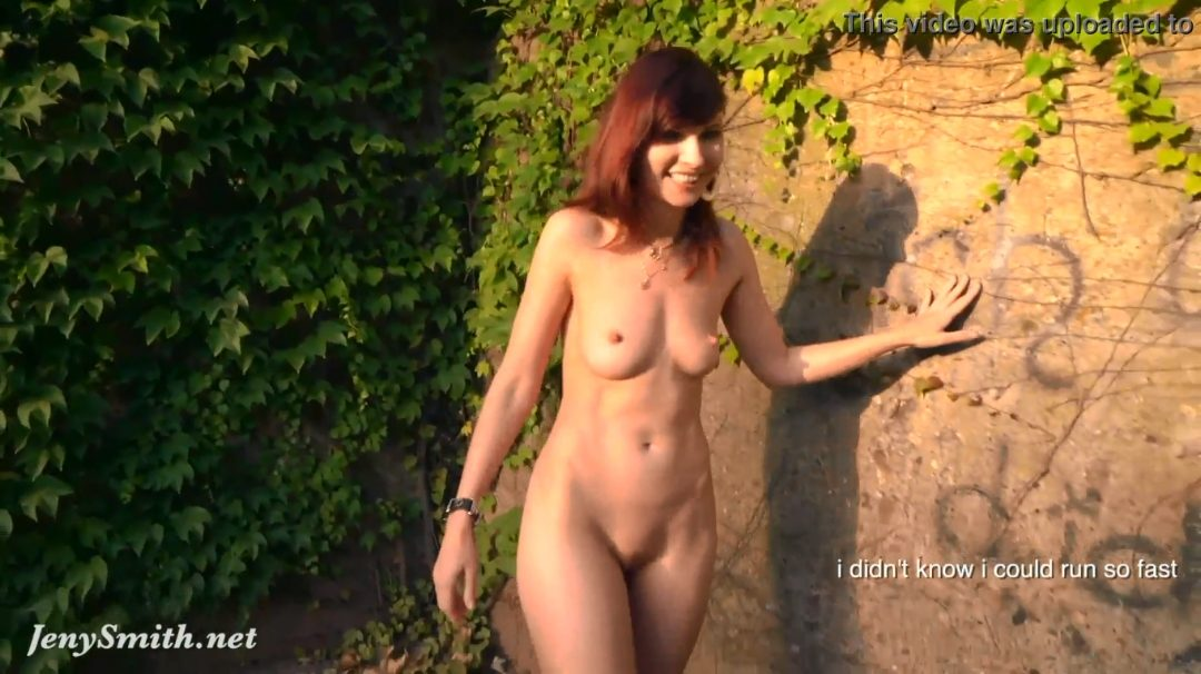 Video: Jeny Smith Walks Naked Through An Old Factory
