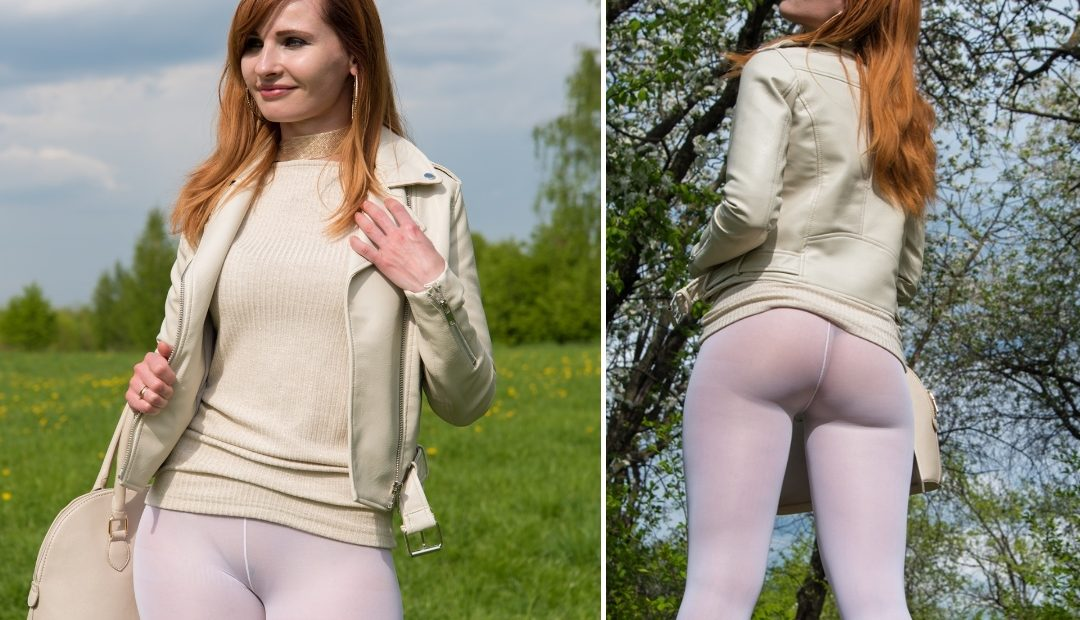 Photo Gallery: Jeny Smith Non-Nude in White Leggings At the Park