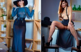 New Photo Gallery – Sexy Jeny Smith Classy Lady In Blue